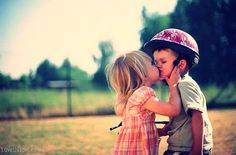 Kiddie kiss cute photography summer kiss outdoors kids