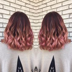 "68 Likes, 5 Comments - Balayage & Color Specialist (@hairbymadisoncarlisle) on Instagram: ""@haylieisrad is a rose gold peachy pink goddess! Absolutely obsessed with this! * * * ! #foilage…"""