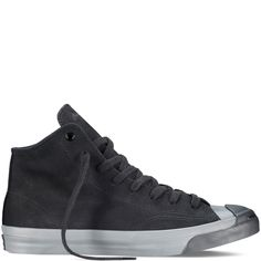 Converse – Jack Purcell Monochrome Leather – Black – Mid