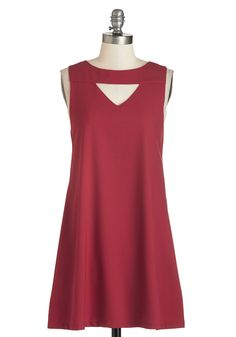 ModCloth Mid-length Sleeveless Shift It's a Done Zeal Dress Simple Dresses, Cute Dresses, Casual Dresses, Dresses For Work, Retro Vintage Dresses, Vintage Style Outfits, Indie Outfits, Fashion Outfits, Red Colour Dress