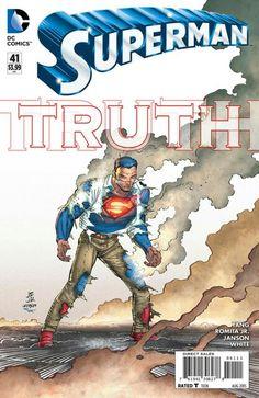 The cover to Superman #41 (2015), art by John Romita, Jr., Klaus Janson, & Dean White