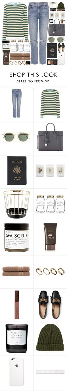 """""""I can't help myself from feeling all this is wasted on me."""" by pure-and-valuable ❤ liked on Polyvore featuring GRLFRND, AlexaChung, Cartier, Yves Saint Laurent, Royce Leather, Elizabeth Scarlett, Incipit, Kilner, Fig+Yarrow and Hourglass Cosmetics"""