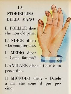La storiellina della mano
