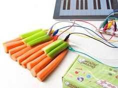 Awesome gift idea for fledgling/future inventors:  MaKey MaKey turns inanimate objects into touchpads and controllers.