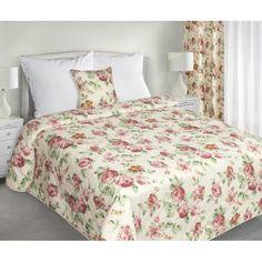 Luxusné obojstranné prehozy na posteľ s kvetinovým vzorom