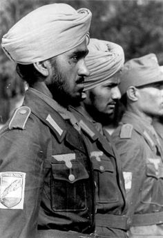 Volunteers of Germany's Indische Legion (attached to the Waffen-SS)  are sworn in. Potsdam, 1942. Bundesarchiv