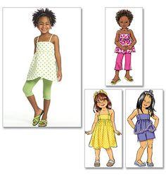 Children's/Girls' Top, Dress, Shorts, Pants And Leggings B5020