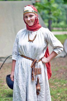 Medieval Slavic costume of Ancient Russia: Severyani