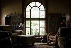 books comfy chairs window