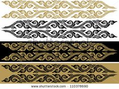 Thai Art Pattern, Vector Illustration Isolated On White Background - 110378690 : Shutterstock