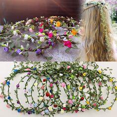 Bride Headband Flower Boho Women Lady Girl Floral Festival Wedding Garland Hair Head Band