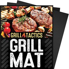 Grill Tactics Grill Mat (Set of 3) - Heavy-Duty Non-Stick BBQ & Grilling Sheet - This Best Rated Grill Pad Works With Gas, Electric, Charcoal Grills, and More - 15.75 x 13 Inch -- Want additional info? Click on the image.