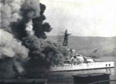 "Mers el Kebir. 3th of July 1940. Le drame de ""La Bretagne"". Many Breton coastal families have lost a parent this day."