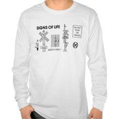 Railroad Crossing Lifesaving Signs Long Sleeve Tee Shirt - SOLD-