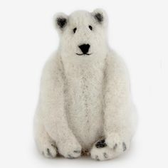 The Au Gres Sheep Factory: Needlefelt Ornaments: Polar Bear