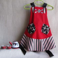 Girl's Pirate Apron Costume Size 1  3 years by EraOfMakeBelieve, $59.50