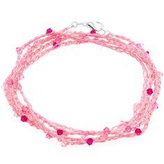 Free Tutorial - How to: Breast Cancer Awareness Crochet Wrap Bracelet   Beadaholique