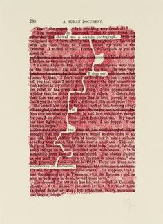 No Title: p. 1970 - Experimental Typography by Tom Phillips Wort Collage, Erasure Poetry, Tom Phillips, Poesia Visual, Found Poetry, Poetry Journal, Blackout Poetry, Poetry Art, Typography