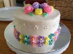 Michaels Cake Decorating Class Sign Up Stunning My Wilton Course 1 Final Cake  Decorated Cakes  Pinterest 2018