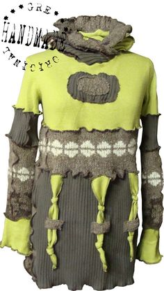 're-purposed sweaters and shirts.....clever...