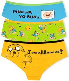 Adventure Time Women's Panties 3 Pack.