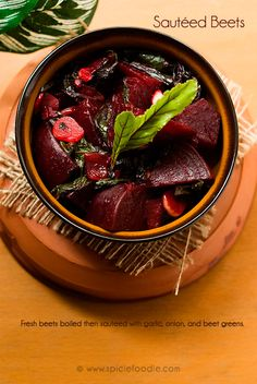 Sauteed Beets (Vegan Recipe)   Spicie Foodie Healthy, Fresh & Delicious Recipes! @SpicieFoodie