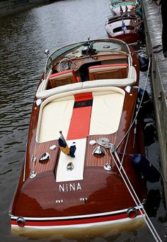 Do It Yourself Boat Plans. MyBoatPlans gives you instant access to over step-by-step boat plans, videos and boat building guides Yacht Boat, Boat Dock, Jet Boat, Cool Boats, Small Boats, Riva Boot, Chris Craft Wooden Boats, Wooden Speed Boats, Utility Boat