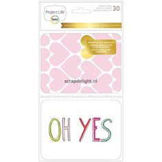 Becky Higgins | Project Life Themed Cards : Bold & Gold Foil | Scrapdelight Scrapbookwinkel