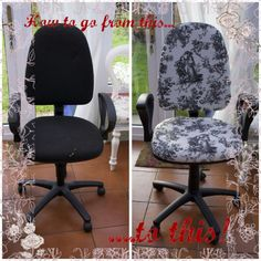 Great tutorial for refurbishing a swivel office chair!