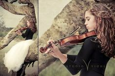 want pics like this of Allie and Kate with their violins.