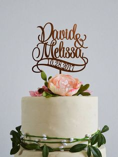 Personalised names cake topper Custom cake toppers for