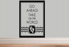 wall decal  Go ahead take on the world  por WallDecalsAndQuotes