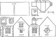 Image result for Free Pattern Cardboard Christmas Houses
