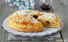 POLACCA AVERSANA ricetta dolce lievitato con crema e amarene, ricetta dolce morbido e cremoso, facile da preparare, ricetta dolce lievitato facile