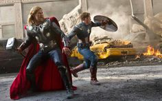 Thor and Cap in battle together... in a time that feels like they are losing...