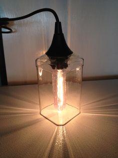 Jack Daniels Bottle Hanging Pendant Light by LiquorLuminations