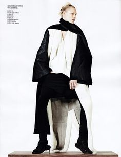 """Simply Sporty Furs"" Julia Nobis By Sharif Hamza For Vogue China November 2013"
