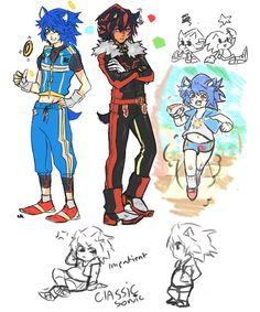 CLASSIC + MODERN SONIC AND SHADOW AND GIJINKAS TO MELT YOUR SOUL