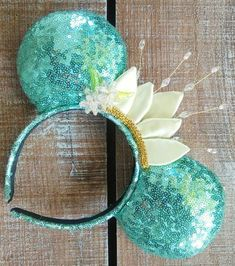 Princess Tiana Inspired Ears by EverAfterByPatti on Etsy