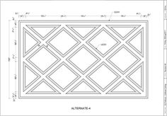 Coffered Ceiling Design Drawing - Diagonal 06