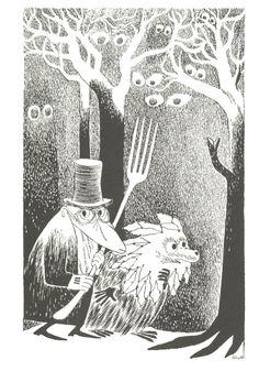 The Hunting of the Snark: The Beaver's Lesson, illustrated by Tove Jansson Lewis Carroll, Moomin Books, Tove Jansson, Spirited Art, Scratchboard, Fantasy Artwork, Children's Book Illustration, Illustrators, Hobbit
