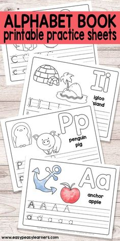 Free Printable Alphabet Book for Preschool and Kindergarten. Pinned by SOS Inc. Resources pinterest.com/sostherapy/