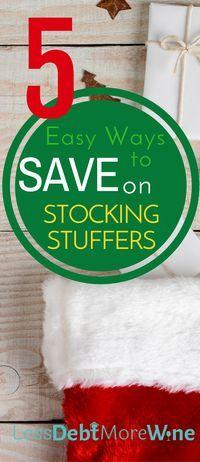 Great ideas to save on stocking stuffers this holiday season! | money saving tips | save money | holiday savings | christmas budget