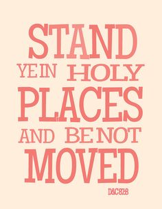 Stand Ye In Holy Places youth theme wall art pdf printable. via Etsy.