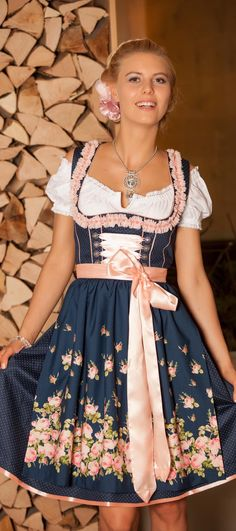Dirndl - All About Drindl Dress, Maid Dress, The Dress, Oktoberfest Outfit, Oktoberfest Party, German Outfit, Feminine Dress, Retro Outfits, Couture