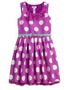 Dot Belted Dress   Girls Dresses Clothes   Shop Justice