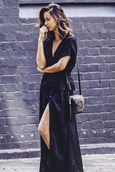 ISABELLE WRAP DRESS - BLACK - Shakuhachi - 1