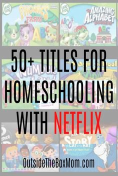 These titles for homeschooling with Netflix are great to use in your homeschool any time of year. These Netflix titles feature animals nature history science literature and more. Homeschool Kindergarten, Preschool Learning, Learning Activities, Teaching Kids, Online Homeschooling, Homeschooling Statistics, Learning Quotes, Toddler Learning, Catholic Homeschooling