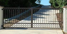 WROUGHT IRON DRIVEWAY GATE OR1