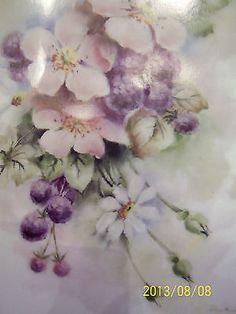 China Painting Study Wild Rose Blackberries Daisies B Alice Nash Blackwelder   eBay